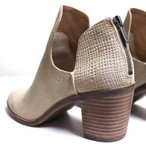 Lucky Brand Shoes - Lucky Brand Open Side Stacked Heel Ankle Booties